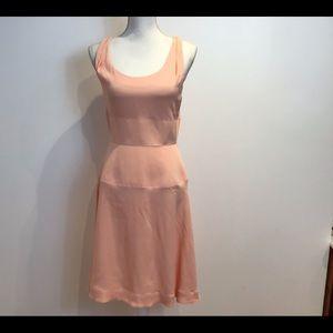 BALENCIAGA PARIS NWT A LINE DRESS NUDE PEACH SZ 6